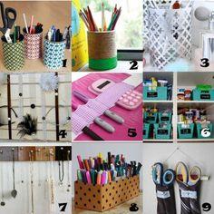 Crafty Organization Ideas - Make a resolution to get organized in 2013.    http://www.universitychic.com/article/5-tips-succeed-semester    #NewYearNewYou     #UChic