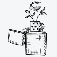 Mini Drawings, Unique Drawings, Cool Art Drawings, Pencil Art Drawings, Art Drawings Sketches, Tattoo Sketches, Easy Drawings, Doodle Tattoo, Doodle Art