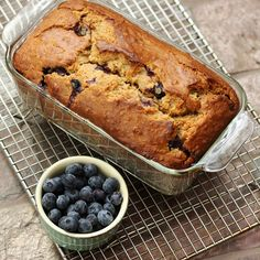 Blueberry Banana Oat Bread compliments of our friends with Driscoll's