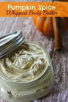 ½ cup Shea butter ¼ cup Coconut oil 2 Tbsp. Olive oil 2 vitamin E capsules 3 tsp. Pumpkin pie spice1  tsp. Vanilla extract