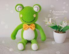 fukuroucrafts: Cute Crochet Pattern Frog Doll, Cute Amigurumi Pat...