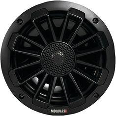 "Mb Quart Nautic Series 6.5"" 120-watt 2-way Coaxial Speaker System With Matte Black Finish (not Illuminated)"