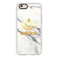 ADIDAS GOLD - WHITE MARBLE - iPhone 7 Case, iPhone 7 Plus Case, iPhone... ($40) ❤ liked on Polyvore featuring accessories, tech accessories, iphone case, apple iphone case, iphone cases, iphone hard case, iphone cover case and white iphone case