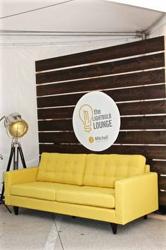Mitchell Communications trade show booth: Lightbulb Lounge