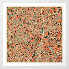 Madrid Art Print by Jazzberry Blue - $19.00