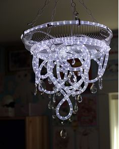 funky chandelier homemade