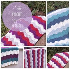 Crochet Ripple Blanket, Häkeldecke mit Wellenmuster, Anleitung Häkeldecke, Babydecke mit Wellen häkeln, Tutorial
