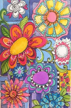 """FIND DESIGNS IN NATURE - Lesson SIX: """"GARDEN DOODLES"""" - DOODLE ARTS AND LETTERING"""
