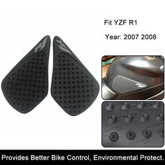 Humble For Yamaha Yzf R1 Yzfr1 2007 2008 Motorcycle Sticker Protector Anti Slip Traction Tank Pad Gas Knee Grip Accessories Covers & Ornamental Mouldings Motorcycle Accessories & Parts
