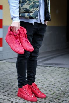Red Balenciagas #sneakers