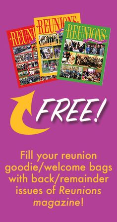 Home - Reunions magazine Free Magazines, Welcome Bags, Reunions, Free Stuff, Dates, Fill, Number, Cover, Blankets