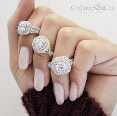 Which diamond would you wear? #Diamonds #GabrielNY #Ring