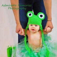 Crochet Frog Hat Photo Prop Boy Girl Newborn 0 3m 6m Baby Infant Halloween Costume Christmas Gift Shower Gift Winter Clothing Warm