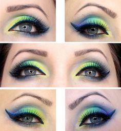 INSPIRATION #brokat #neoneyes #eyemakeup  - bellashoot.com