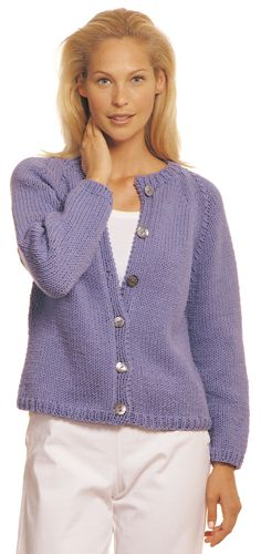 This looks like the classic knit cardy that you could add stripes, cables, beads, whatever you creative heart desires. Good bones, creative juices and viola! Berroco® Free Pattern | Gretta
