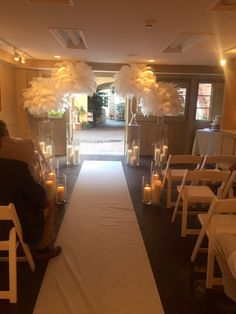 Indoor wedding- In Case of Rain, We can bring your wedding décor inside to transform our Patio Room.