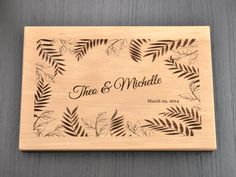 Personalized Engraved Cutting Board Custom by TrueMementos on Etsy