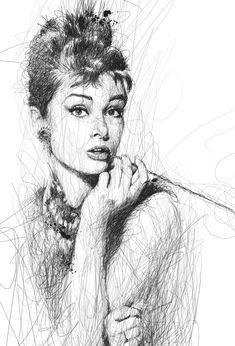 Impresionantes Dibujos utilizando Sencillos Garabatos #VincentLow #Audrey