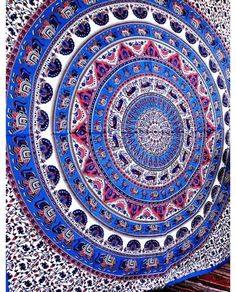 Psychedelic Star Mandala Purple Tapestry Wall Hanging Dorm Decor Bohemian Room