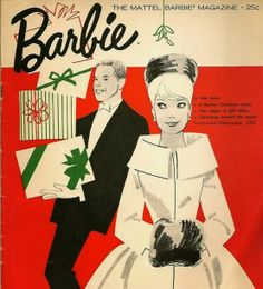 Vintage Barbie Magazine Christmas Cover, ca. early '60s