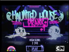 The Amazing World Of Gumball - Gumball Haunted House Prank Game