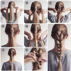 ¿Te gustan las trenzas? este peinado es especialmente para ti ;) #revista #revistainkomoda #pasoapaso #trenza #braid