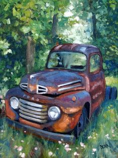 Image result for painted on canvas 1978 GmC  side step farmTruck art