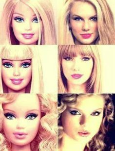 She looks like Barbie. That isn't necessarily a bad thing though.