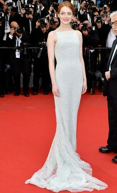 """Emma Stone wore a pastel Dior gown to the """"Irrational Man"""" premiere"""