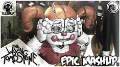 """The 5 songs of The Living Tombstone about FNAF united in a single song. The """"FNAF EPIC MASHUP"""" with a original music video animated in SFM and * The plo. Fnaf Song, Fnaf 5, Anime Fnaf, The Living Tombstone, Scary Gif, Fnaf Sister Location, Freddy S, Original Music, Five Nights At Freddy's"""