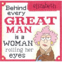 Janlynn-Aunty Acid Counted Cross Stitch Kit. Creative designs and quality products are put in to each of Janlynn's kits. This package contains 14-count white Aida, cotton floss, floss card, needle, gr