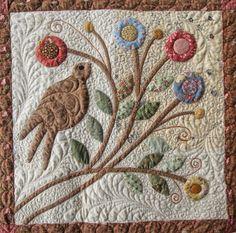 Rambling Ways Quilt Brown Birds Fancy/Pine Valley Quilts