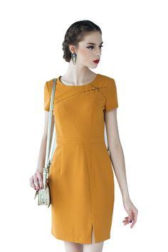 200350 Hong Kong Fashion, Dress Outfits, Fashion Dresses, Long Tops, Elegant Woman, Work Fashion, Designer Dresses, Casual, One Piece