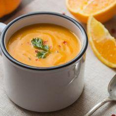 Une soupe toute orange et pleine de vitamines pour affronter l'automne.