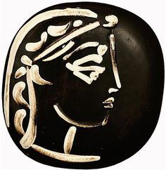 Pablo Picasso, Engraving Ceramic, Jacqueline's Profile, 1956