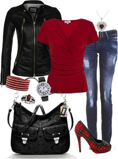 """""""Scottish roots"""" by tina-harris on Polyvore Not sure if I'd do the shoes though...."""