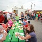 Grant County citizens enjoying the great food we have at every First Friday :)