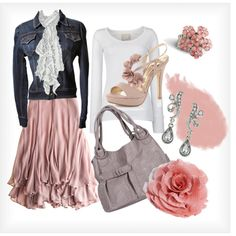 iM SO IN LOVE WITH BLUSH PINK RIGHT NOW AND TO PAIR IT WITH A DENIM JACKET AND A SCARF,HOW ELEGANT YET COMFY