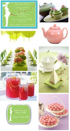 Inspiration Board: Lime Tummy Love Baby Shower on the Tinyprints Blog