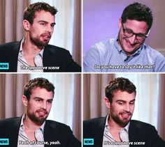 Theo James Talks About Sex Scenes with Shailene Woodley in 'Insurgent' (X)