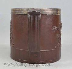 Brown stoneware mug with sprig of Venus, circa possibly S. Stoneware Mugs, Venus, Beer, Antiques, Brown, Tableware, Root Beer, Antiquities, Ale