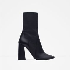 LEATHER HIGH HEEL BOOTS-Boots and ankle boots-Shoes-WOMAN | ZARA United States