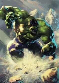 Hulk - line art: Ardian Syaf, color: Nir Wadie Comic Book Characters, Comic Book Heroes, Marvel Characters, Comic Character, Comic Books Art, Comic Art, Hq Marvel, Marvel Comics Art, Marvel Heroes