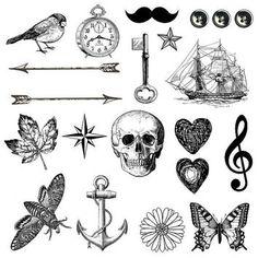 vintage key tattoo - Google Search