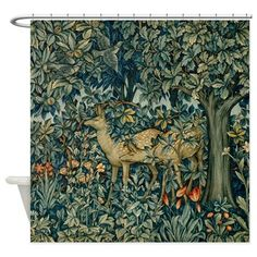 William Morris Greenery Shower Curtain on CafePress.com