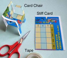 Toys from Trash: Card Paper chair. There are a TON of cool projects here, many with science built in.