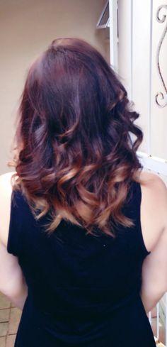 Ombre hair .