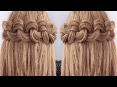 Easy Big Loop Braids Hair Tutorial - YouTube
