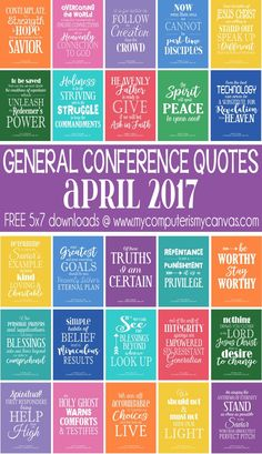 FREE Printable Quotes from LDS General Conference #LDSconf - April 2017 #mycomputerismycanvas