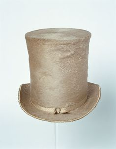 Top Hat 1830, British, Made of silk and velour